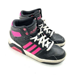 Adidas High Tops Shoes 2016 B74645 Black Hot Pink
